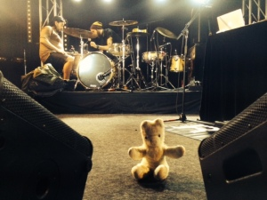 Token TED the manager on stage whilst Sensible J was doing soundcheck