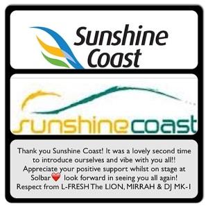 Sunshine Coast THANK YOU