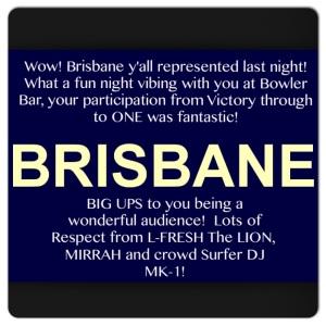 Brisbane THANK YOU!
